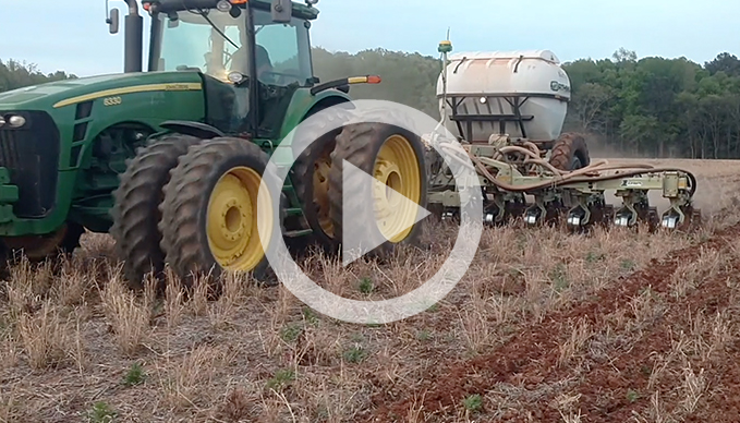 Strip-tilling in Alabama red clay