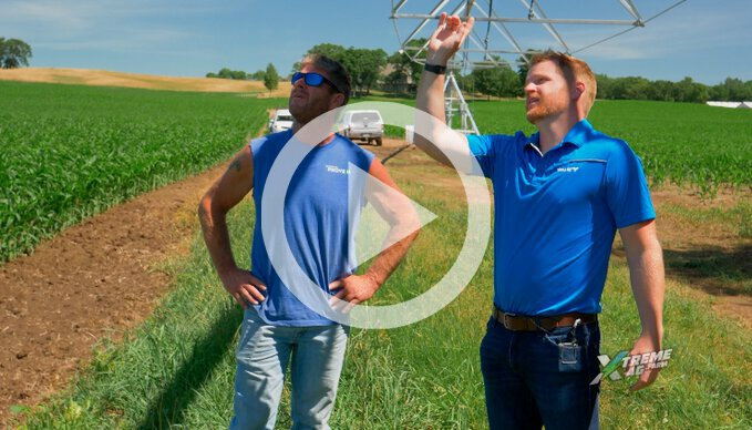 Monitoring The Crop With A Pivot